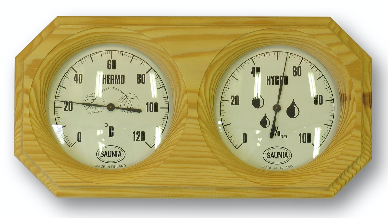 Bastutermometer Saunia Med Hydrometer Furu