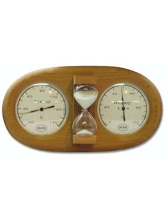 Bastutermometer Nikkarien 591L Med Hydrometer Och Timglas
