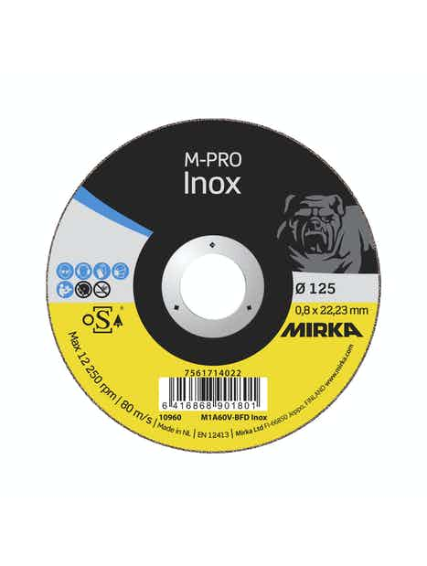KATKAISULAIKKA MIRKA M-PRO 125X0,8X22,2MM M1A60V-BFD INOX