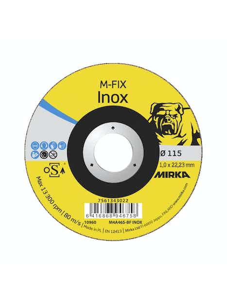 KATKAISULAIKKA MIRKA M-FIX 115X1,0X22,2MM M4A46S-BF INOX