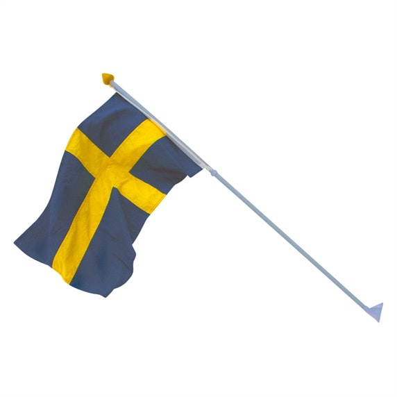 Fasadflagga Flagmore Set Sverige 115cm