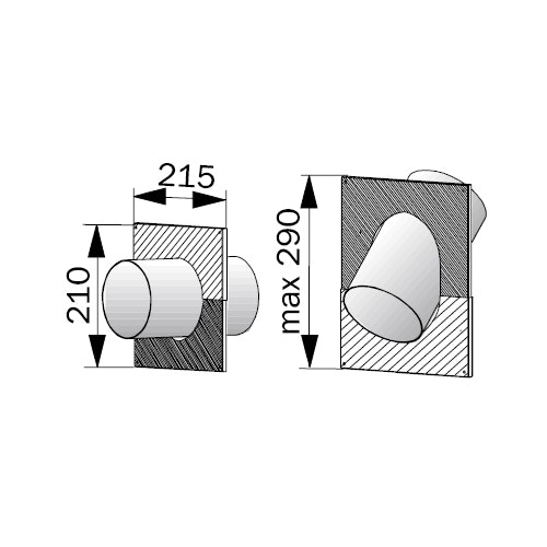 Genomföringskrage Harvia 115mm WZ020115