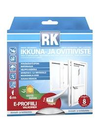 IKKUNA- JA OVITIIVISTE E RK VALKOINEN 6M