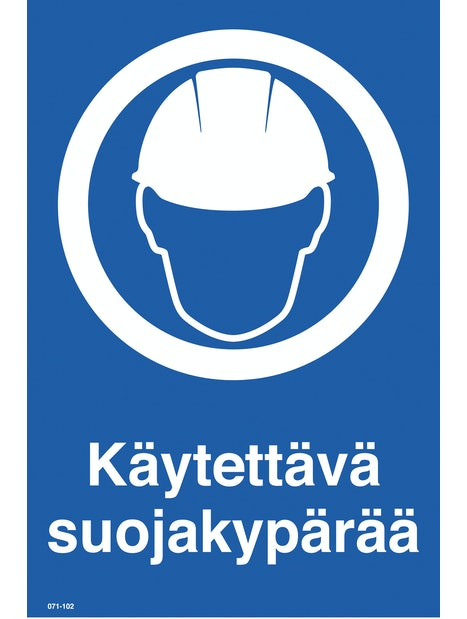 KILPI KÄYTETTÄVÄ SUOJAKYPÄRÄÄ 200X300MM MUOVI