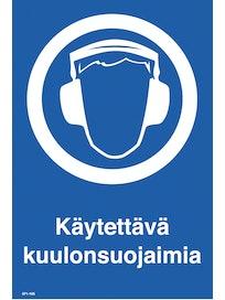 KILPI KÄYTETTÄVÄ KUULON SUOJAIMIA 200X300MM MUOVI
