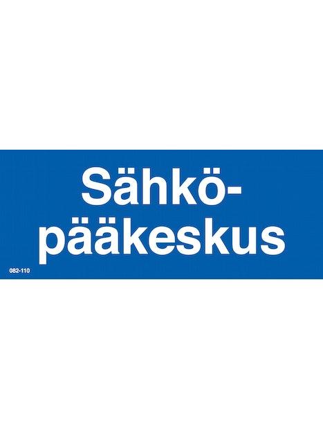 KILPI SÄHKÖPÄÄKESKUS 200X80MM TARRA