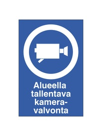 KILPI ALUEELLA TALLENTAVA KAMERAVALVONTA 200X300MM