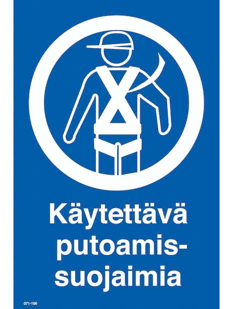 KILPI KÄYTETTÄVÄ PUTOAMISSUOJAIMIA 200X300MM