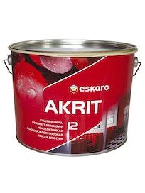 Краска для стен Eskaro Akrit-12, моющаяся, белая, 9,5 л