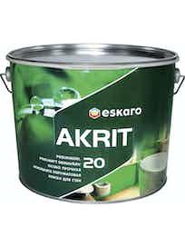 Краска водно-дисперсионная Eskaro Akrit-20 белый 9,5 л