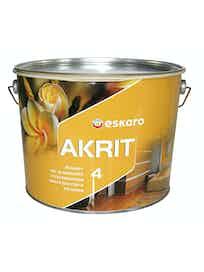 Краска водно-дисперсионная матовая Akrit-4 Eskaro белая 9,5 л