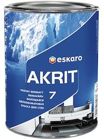 Краска для стен Eskaro Akrit-7, моющаяся, шелковисто-матовая, 0,95 л