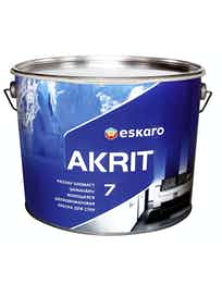 Краска водно-дисперсионная Eskaro Akrit-7 белый 9,5 л