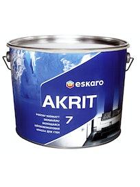Краска для стен Eskaro Akrit-7, моющаяся, шелковисто-матовая, 9,5 л