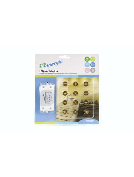 LED-VALOSARJA LED ENERGIE 12-OSAINEN MESSINKI