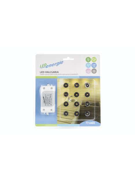 LED-VALOSARJA LED ENERGIE 12-OSAINEN KROMI