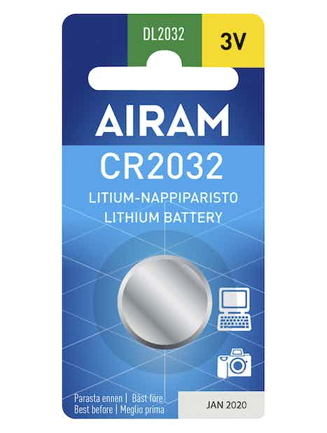PARISTO AIRAM CR2032/3V