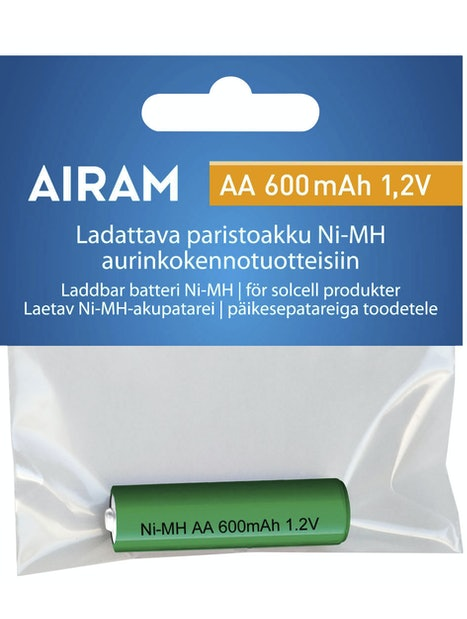 AKKU AIRAM NI MH 600 MAH AA 1,2 V NS. SORMIKOKO