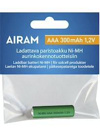 AKKU AIRAM NI MH 300 MAH AAA 1,2 V E10 MATTA VALKOINEN
