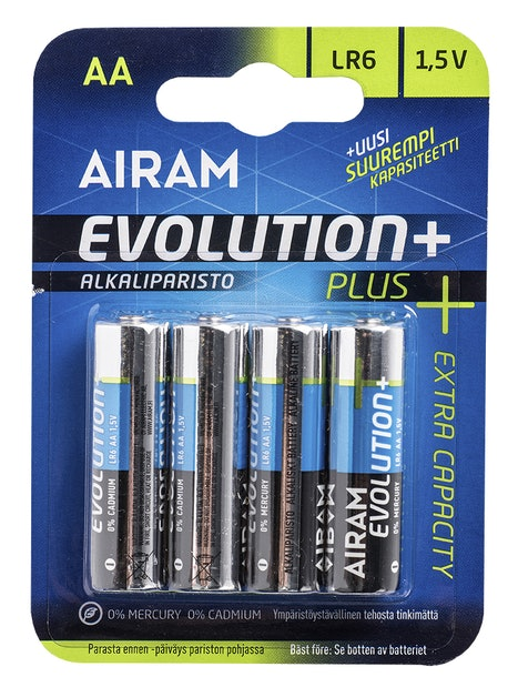 PARISTO AIRAM EVOLUTION PLUS AA ALKALI 4KPL
