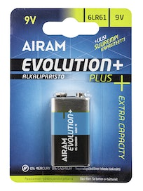 ALKALIPARISTO AIRAM EVOLUTION PLUS 6LR61 9V