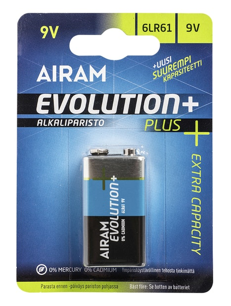 PARISTO AIRAM EVOLUTION PLUS 6LR61 9V ALKALI