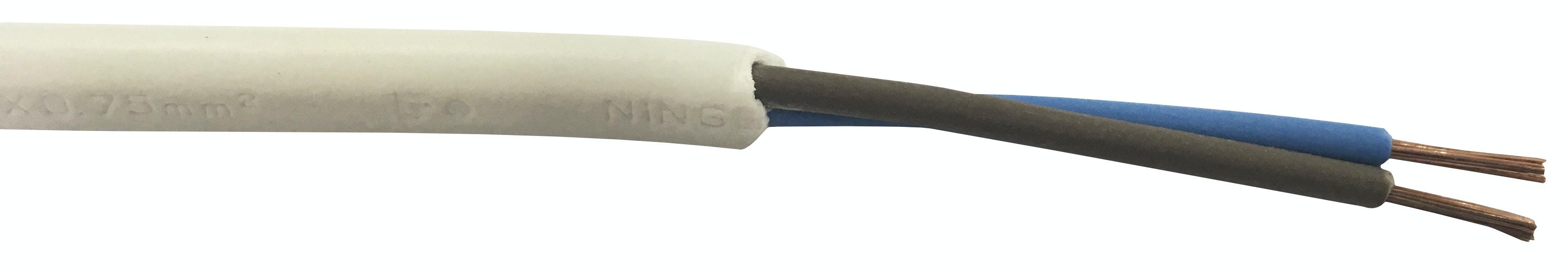Installationskabel Opal MSO 2x0.75mm² Vit 10m