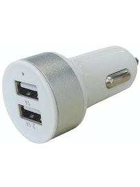 AUTOLATURI OPAL USB 2-OS 1000 & 2100MA 5V VALKOINEN