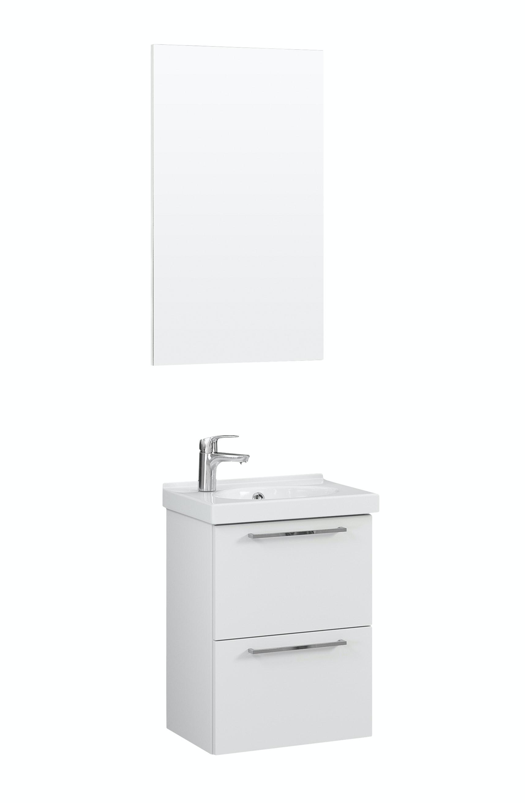 Möbelpaket Temal Trend 57X40 Högblank Vit Med Spegel