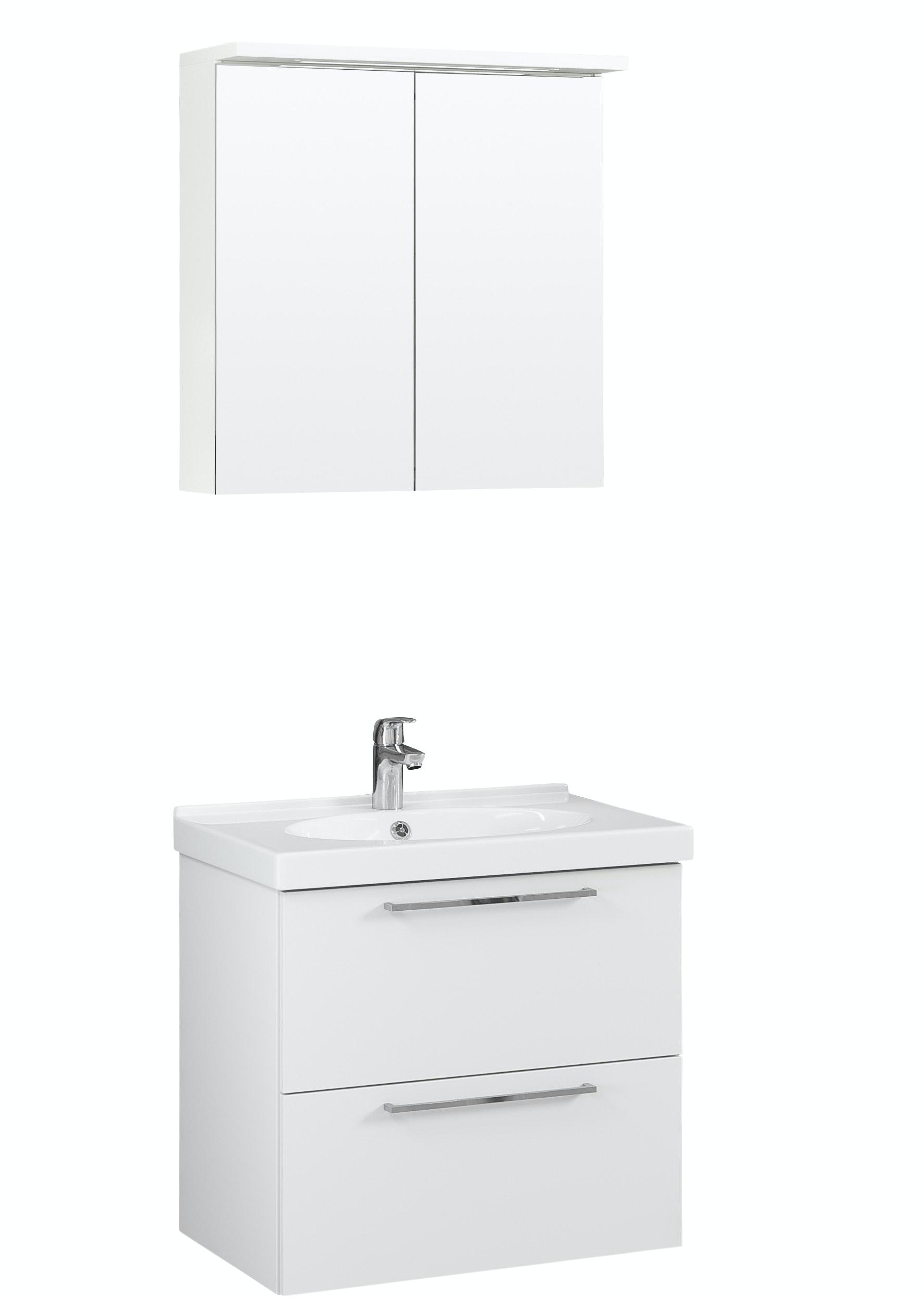 Möbelpaket Temal Trend 72X45 Vit Med Spegelskåp