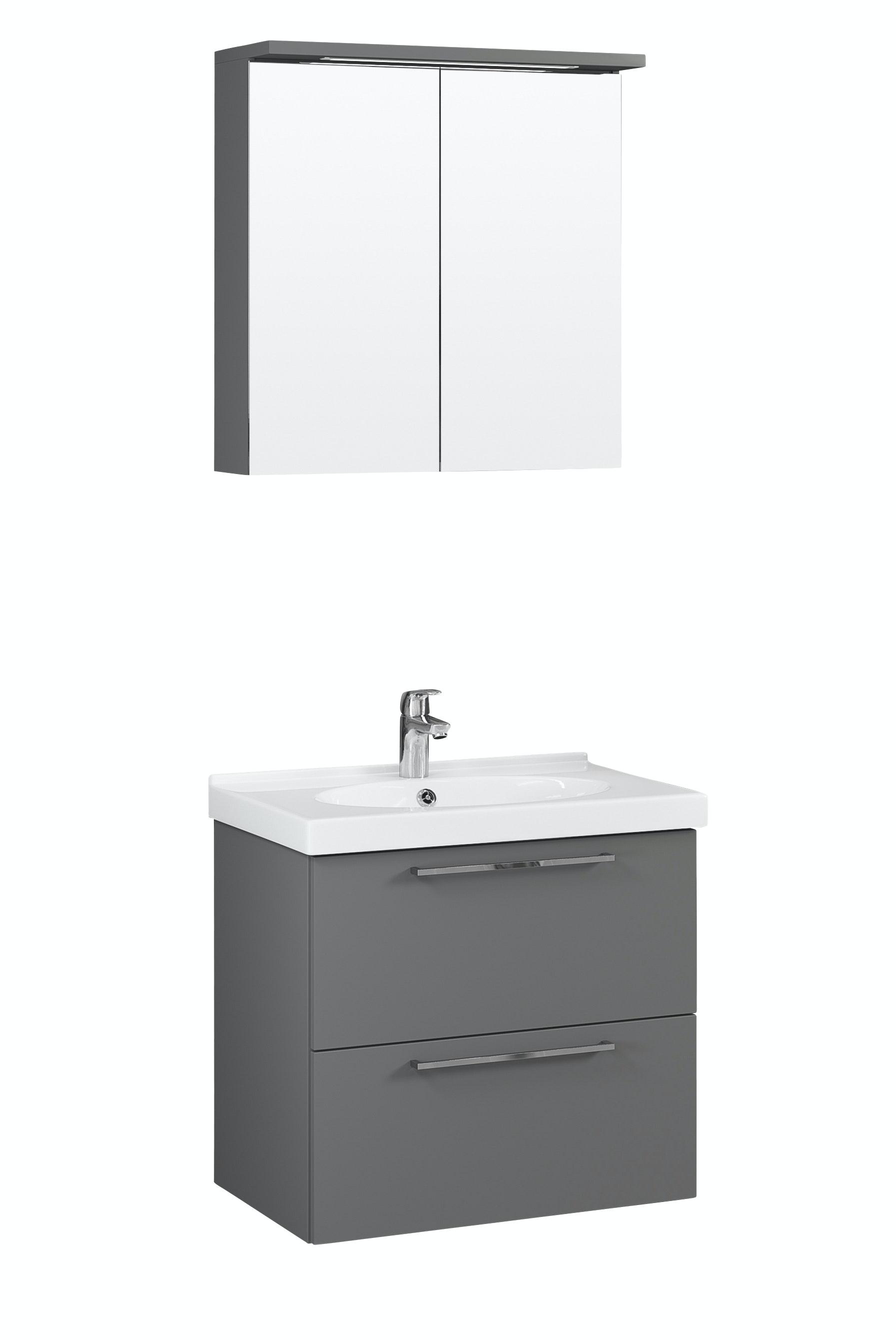Möbelpaket Temal Trend 72X45 Grå Med Spegelkåp