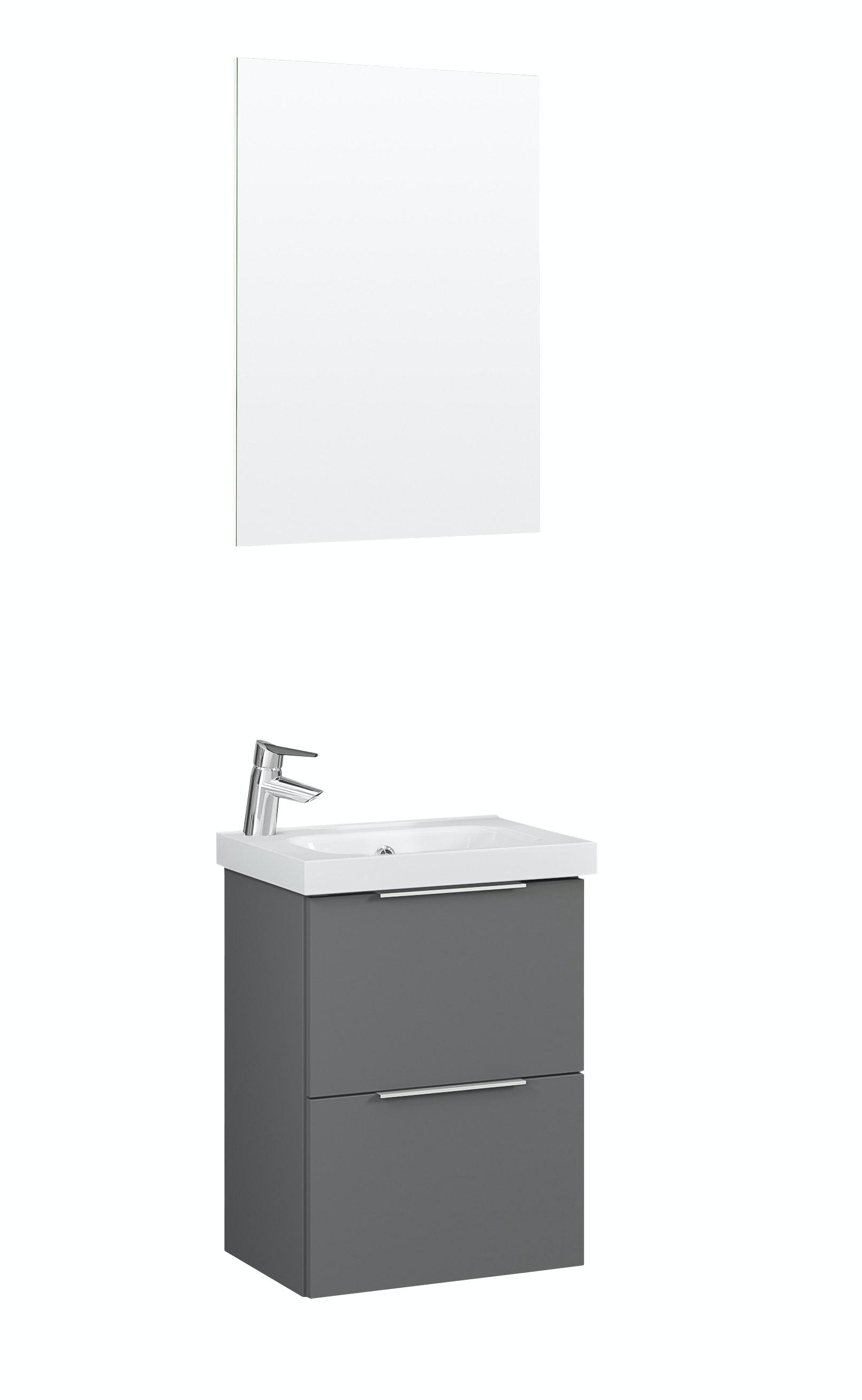 Möbelpaket Temal Stella S 42X32 Grå Med Spegel