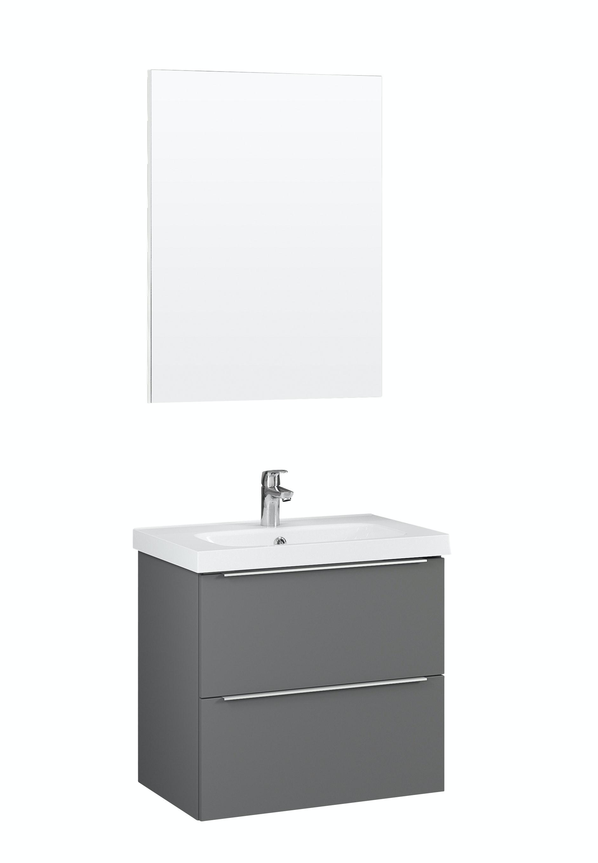Möbelpaket Temal Stella M 57X40 Grå Med Spegel