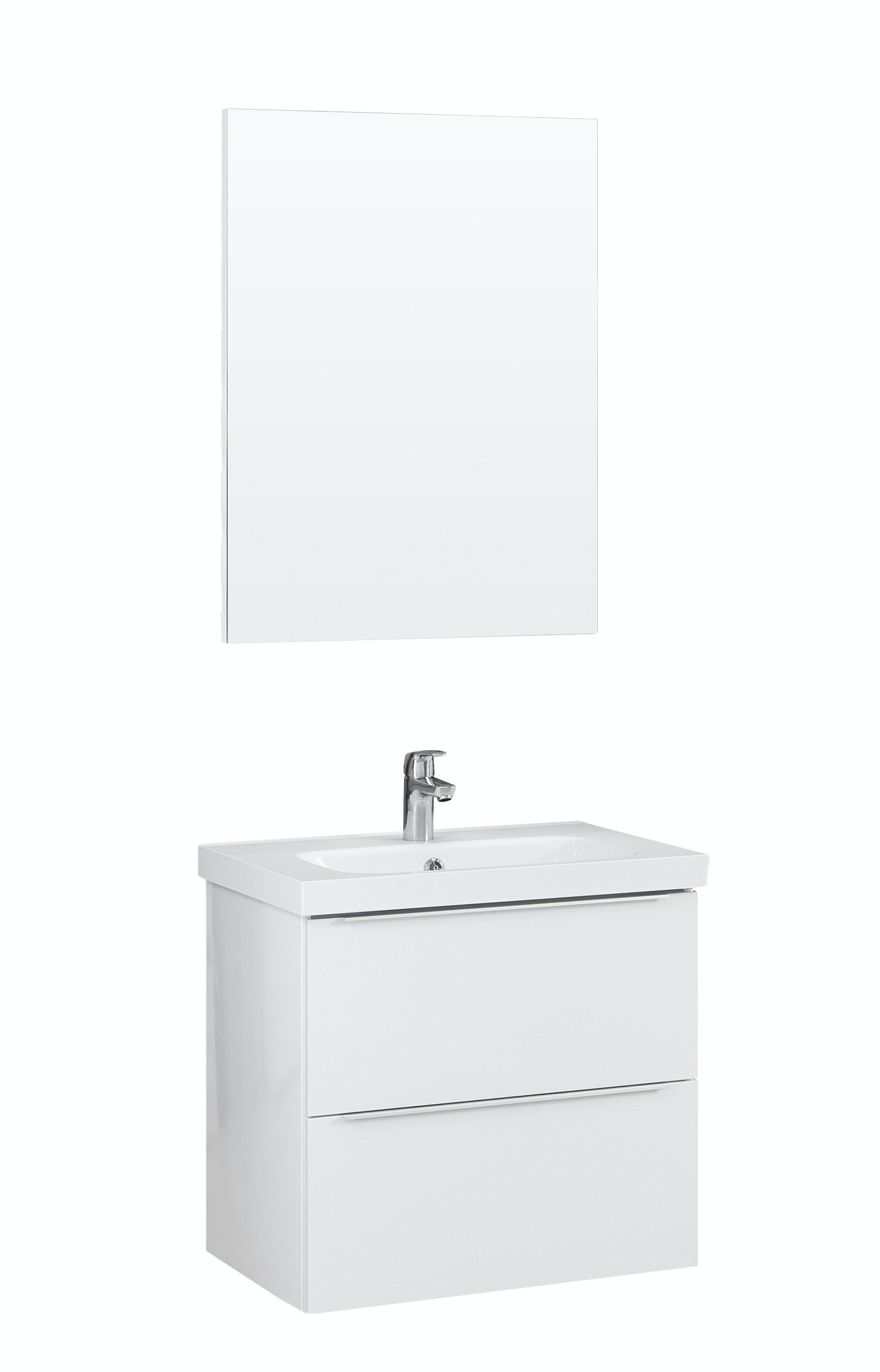 Möbelpaket Temal Stella 57X40 Högblank Vit Med Spegel
