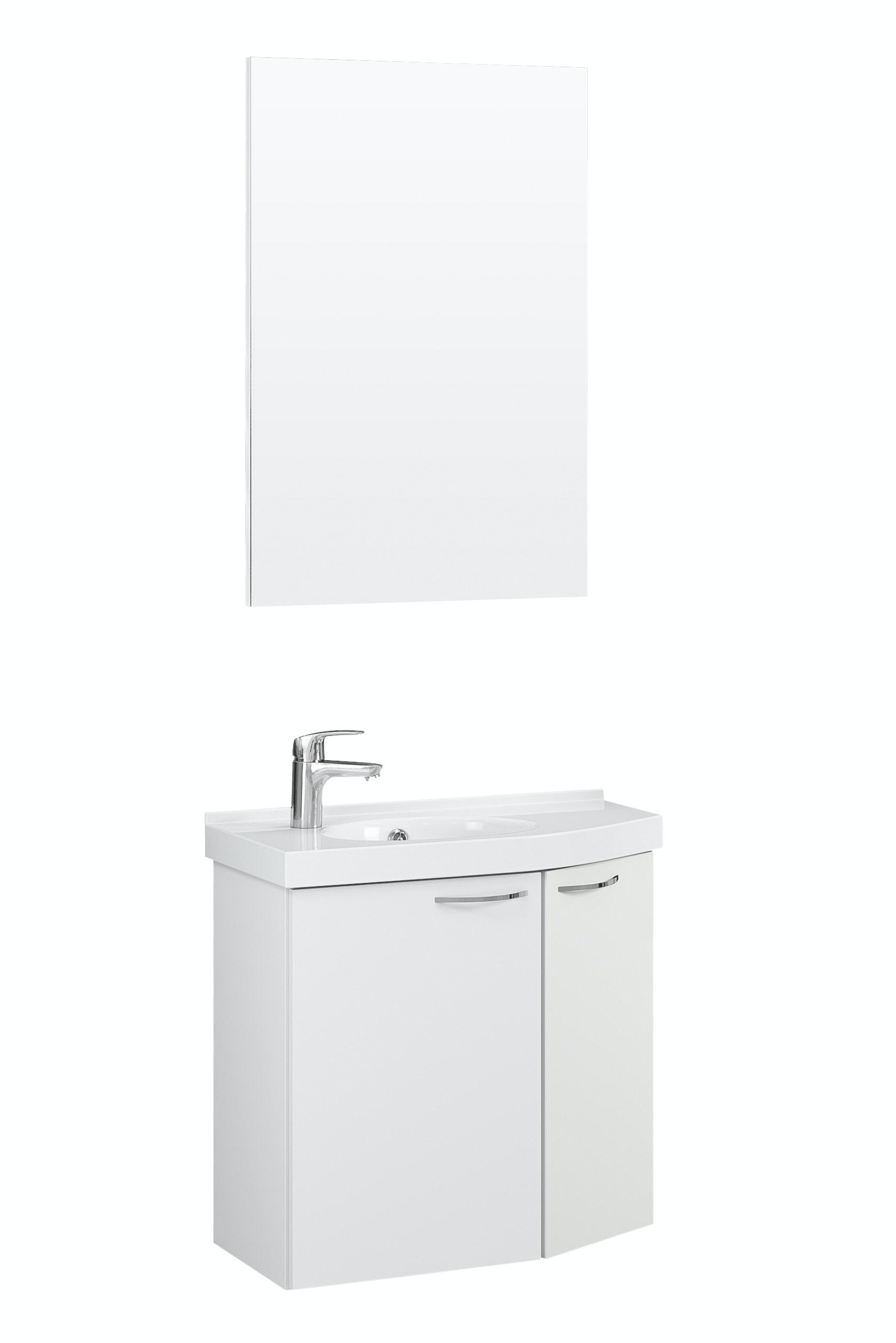 Möbelpaket Temal Mondo 57X30 Höger Vit Med Spegel