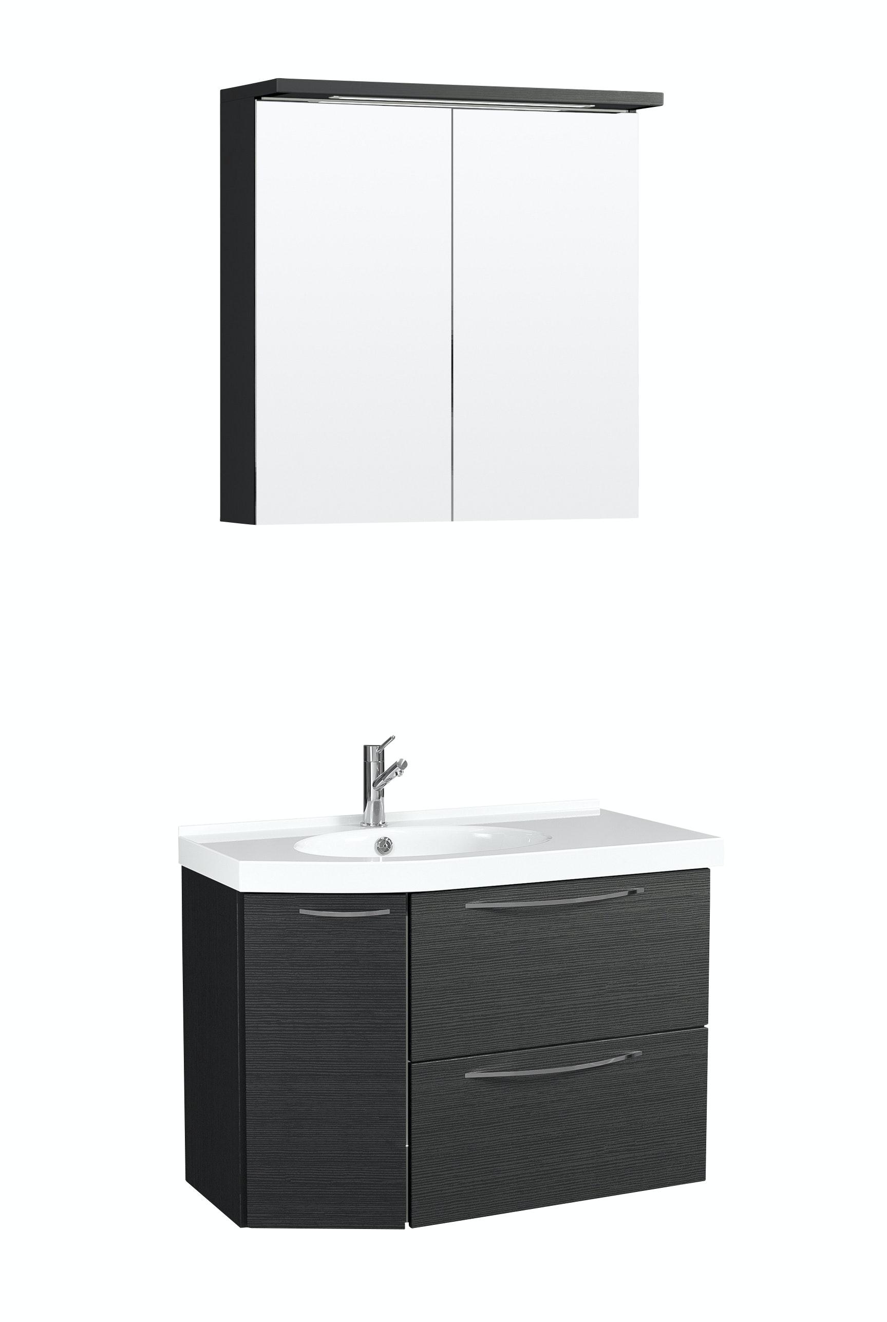 Möbelpaket Temal Mondo 67X40 Vänster Svart Med Spegel