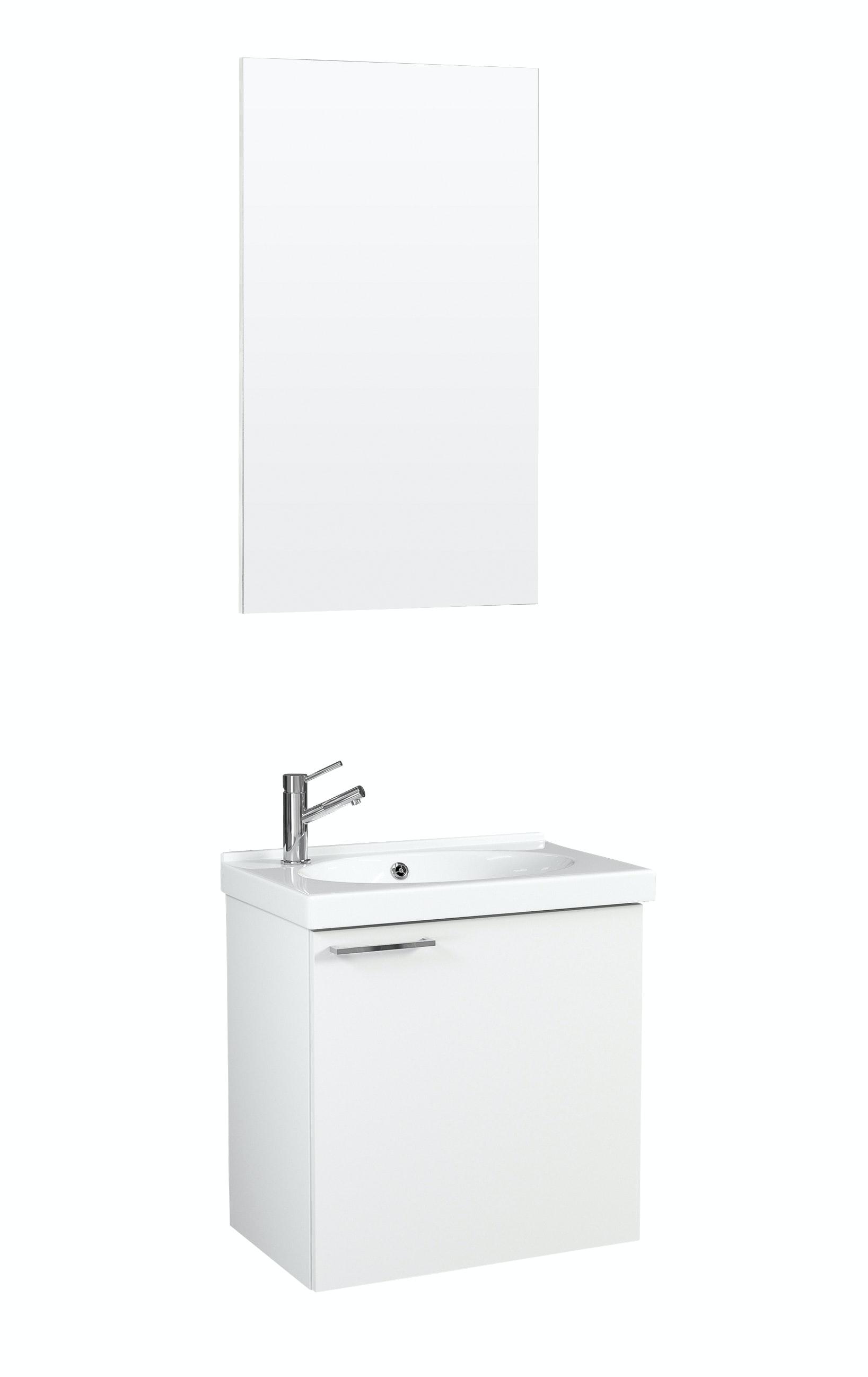 Möbelpaket Temal Trend 42X30 Vit Med Spegel