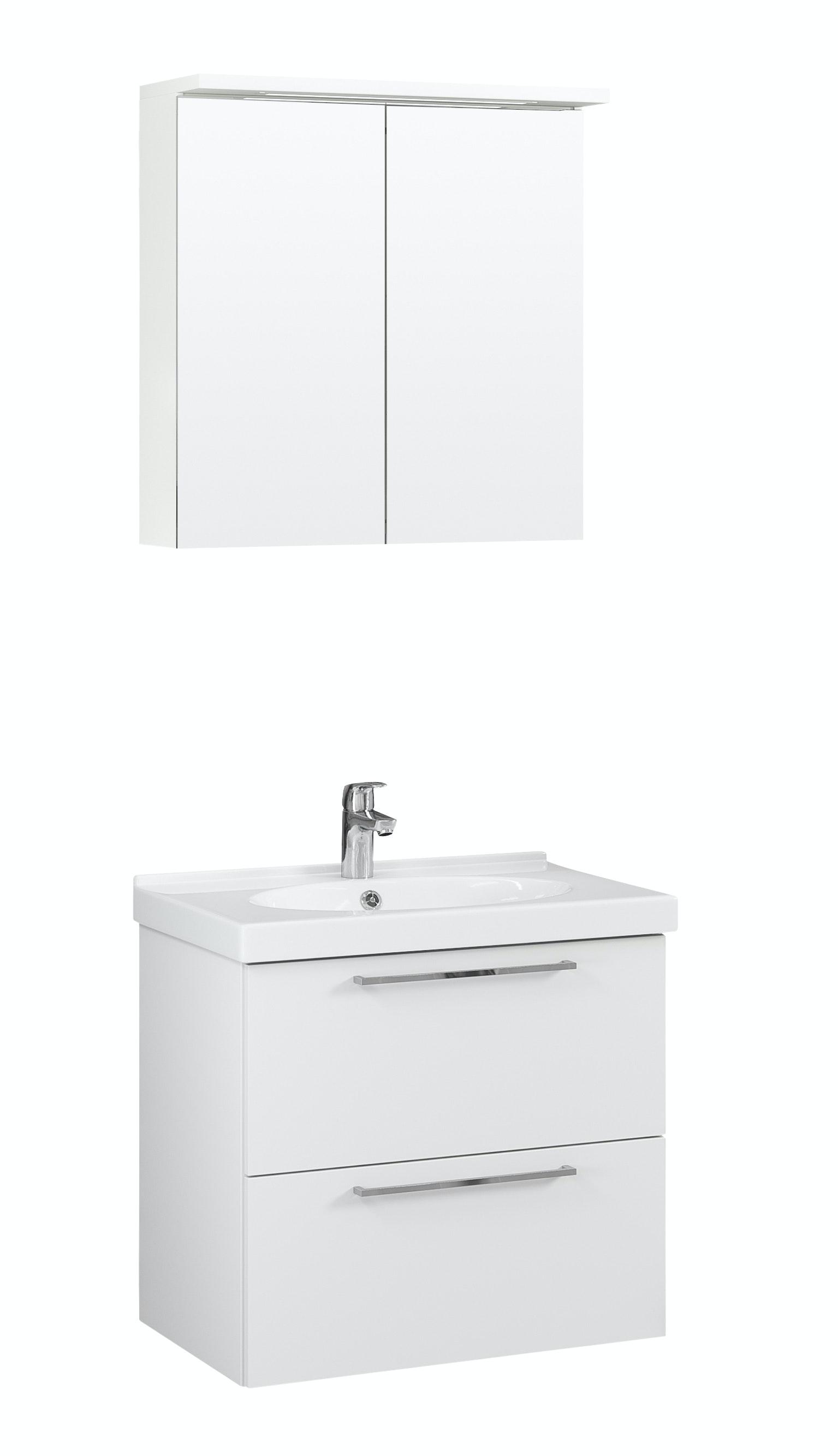 Möbelpaket Temal Trend 67X45 Vit Med Spegelskåp