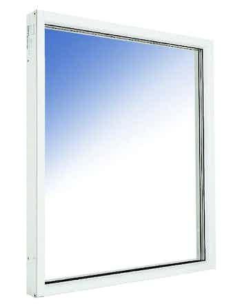 Fönster fast karm Outline HFKA 20x8 vitmålade aluminium