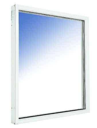 Fönster fast karm Outline HFKA 10x21 vitmålade aluminium härdat in/ut