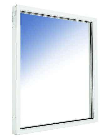 Fönster fast karm Outline HFKA 12x9 vitmålade aluminium