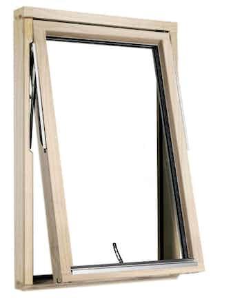 Vridfönster Outline HF 6x6 RÅGLAS obehandlat