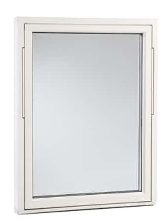 Vridfönster Outline HFA 13x5 vitmålad aluminium