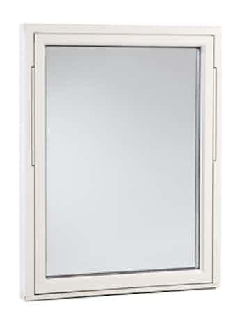 Vridfönster Outline HFA 18x5 vitmålad aluminium