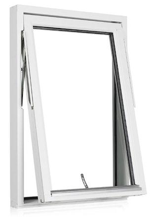 Vridfönster Outline HF 13x13 vitmålad mittpost