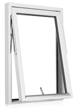 Vridfönster Outline HF 14x13 vitmålad mittpost