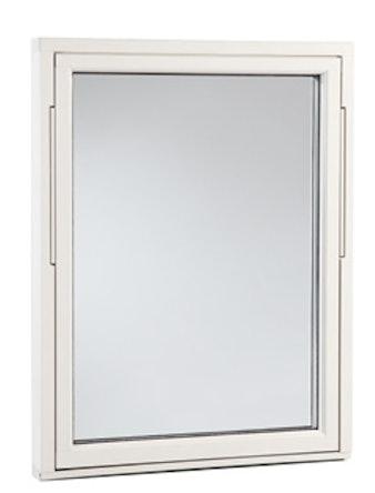 Vridfönster Outline HFA 18x8 vitmålad aluminium