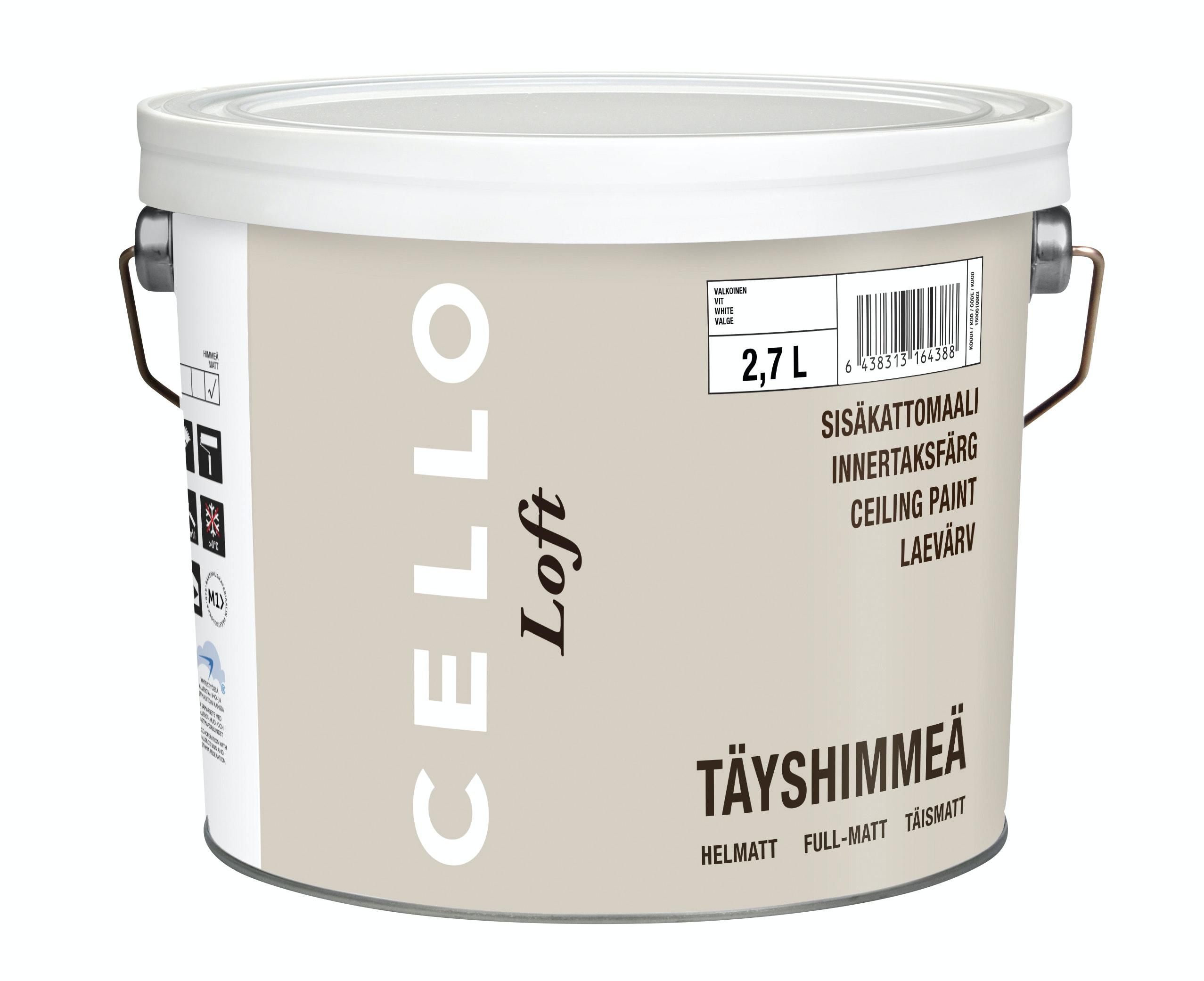Takfärg Cello Loft Helmatt Vit Bas 1 2,7l