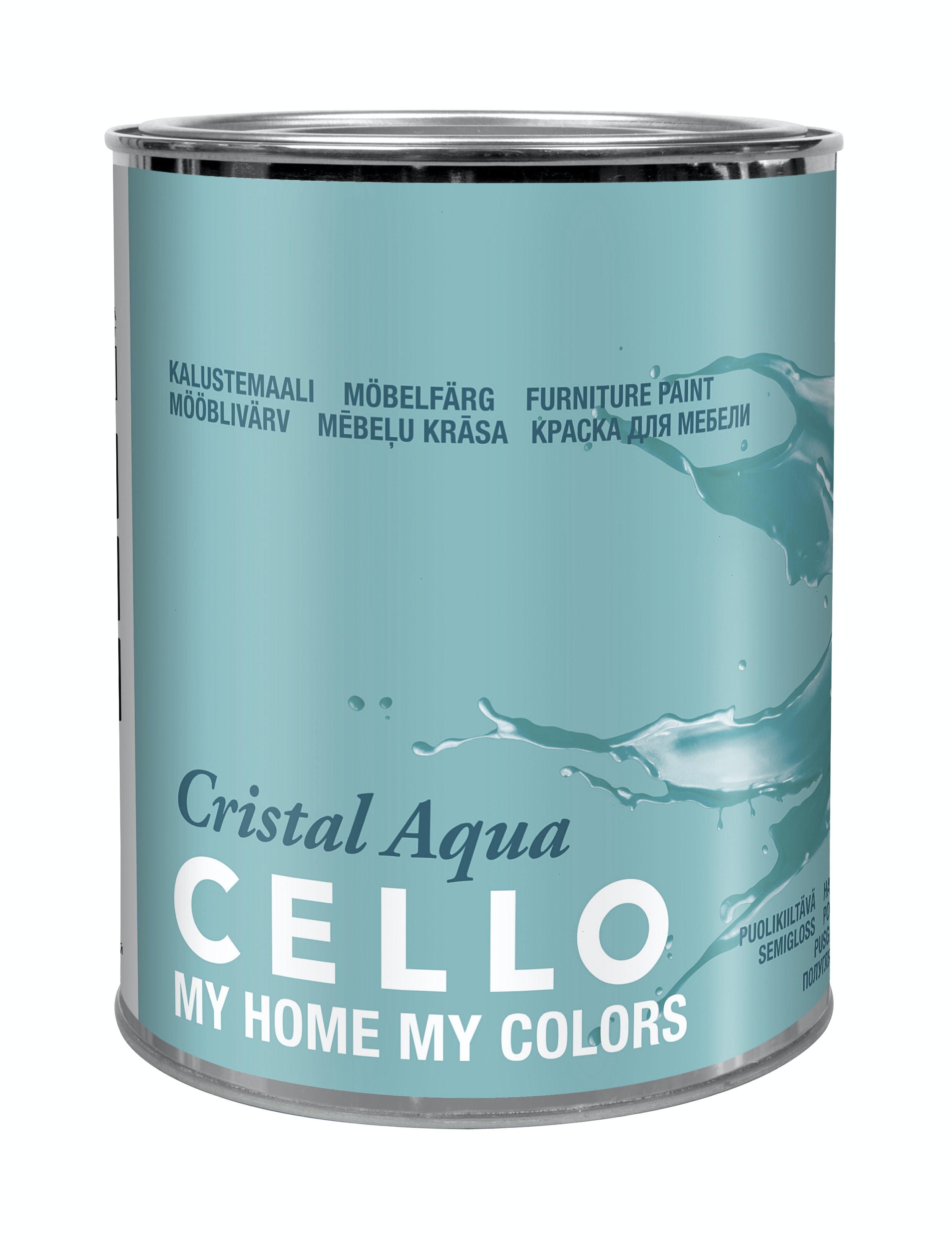 Snickerifärg Cello Cristal Aqua Halvblank Bas 3 0,9l