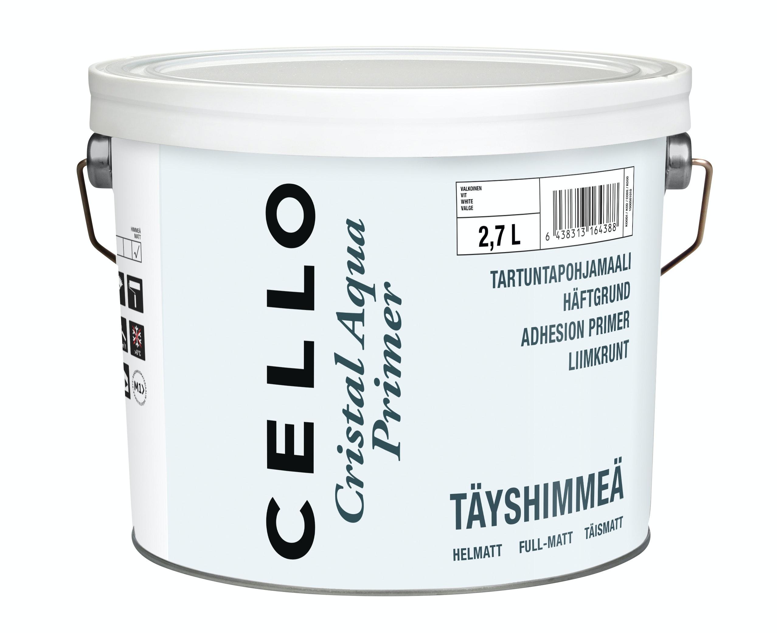 Grundfärg Cello Cristal Aqua Helmatt Vit/Bas 1 2,7l